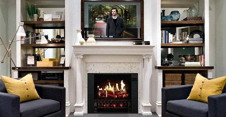 Decor your home with an electric fireplace