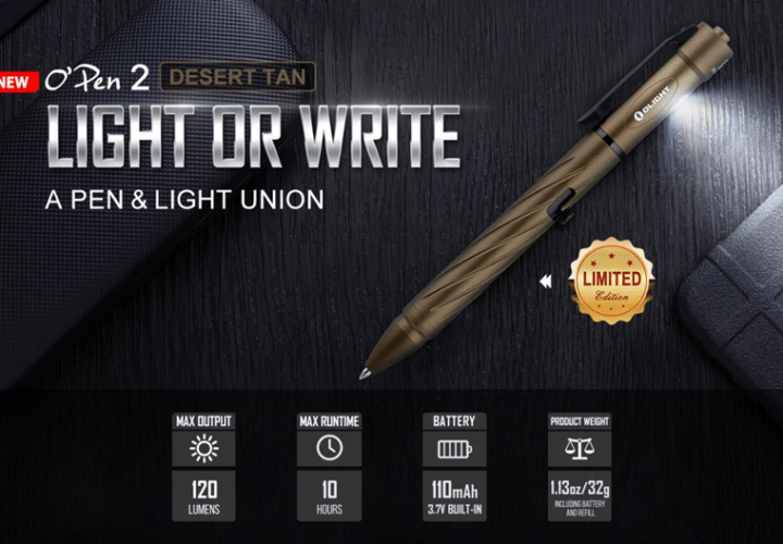 Olight Open 2 Rechargeable EDC Torch: A Pen and Light Combo