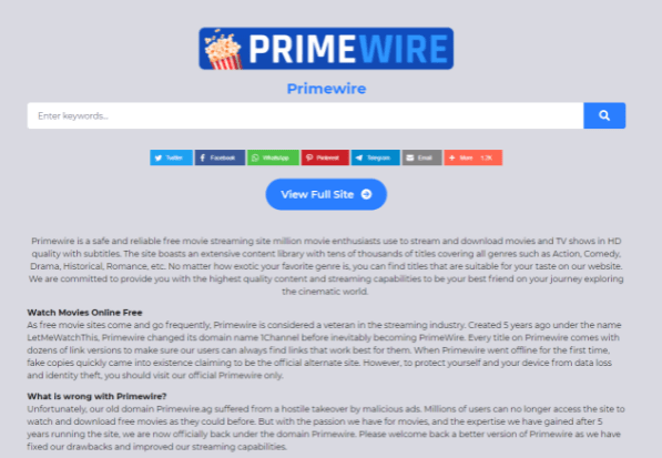 Why Is primewire Free Movies?