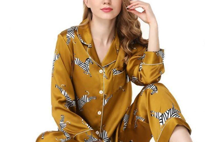 Women's Silk Pleated Pajamas